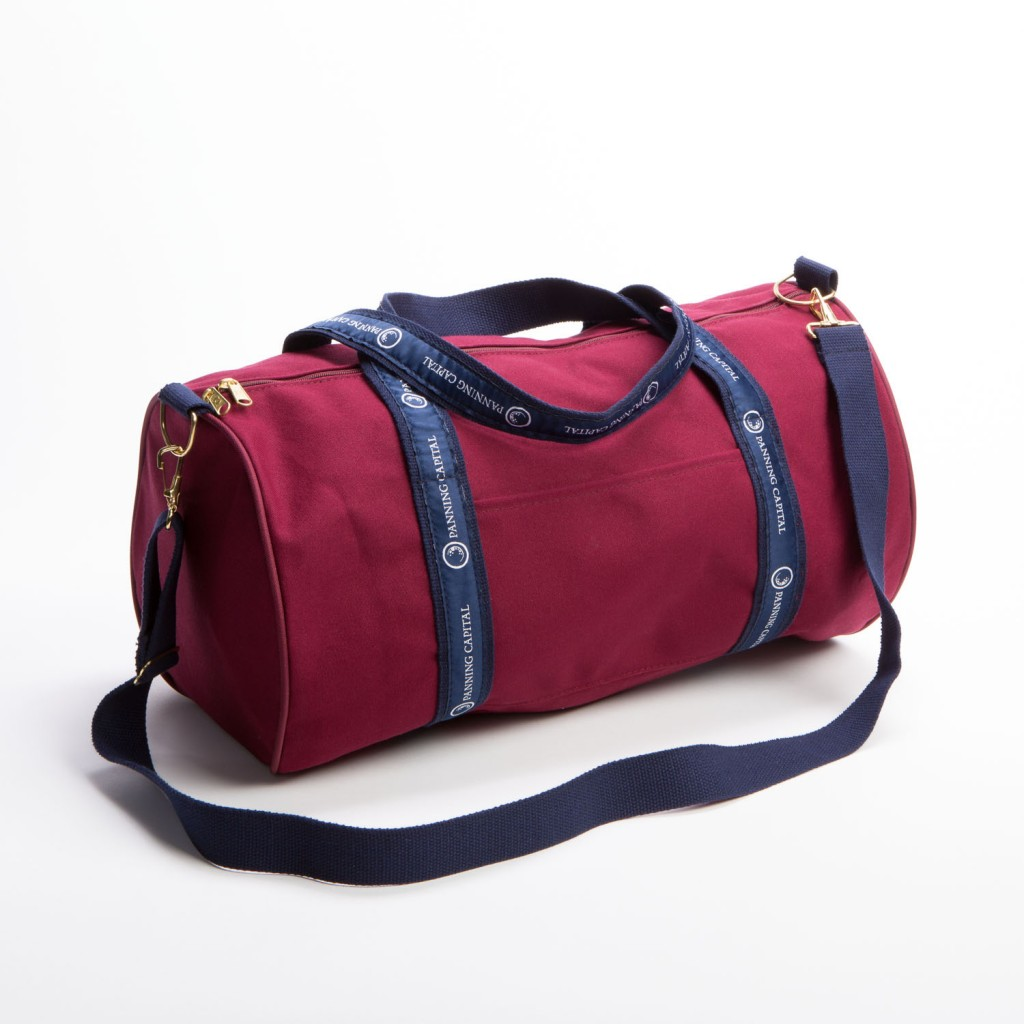 BankerBag with Contrasting Canvas and Ribbon Handles